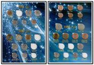 Набор монет ГКЧП регулярного выпуска 1991-1993 годов (в наличии 28 монет) в альбоме