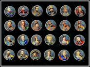 Набор цветных рублей Русские Цари и Императоры,24шт