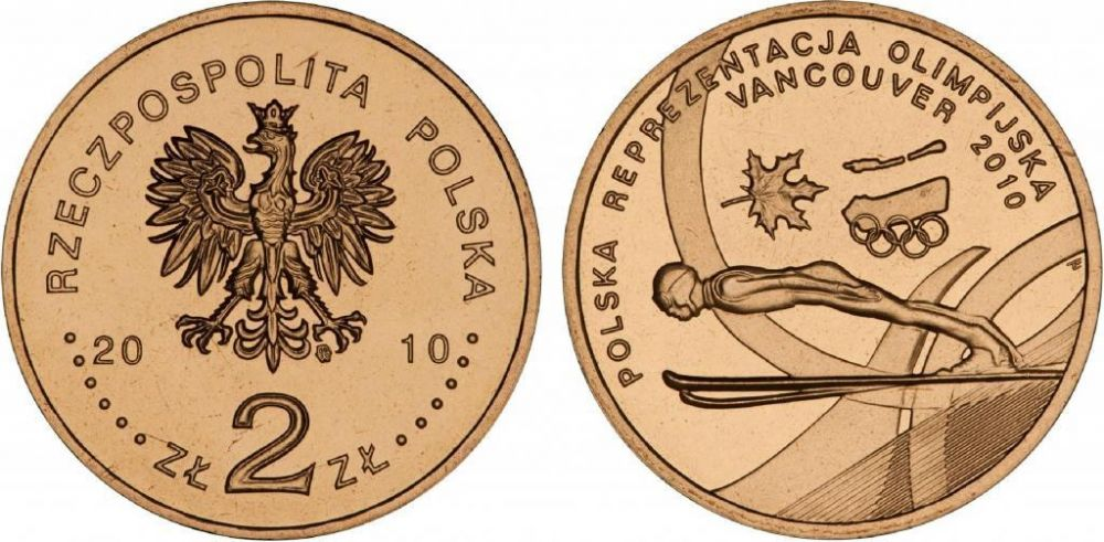 Монета 2 злотых, 2010 год, польша купить в интернет-магазине для коллекционеров монетарус с доставкой по россии