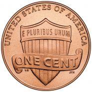 1¢ цент США 2014 из роллов