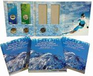 Альбом планшет для цветных и простых монет сочи (альбом на 8 монет)