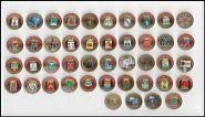 Комплект цветных монет ГВС (43 монеты, включая Грозный)