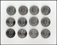 50 центов США, Кеннеди, погодовка, набор 12 монет