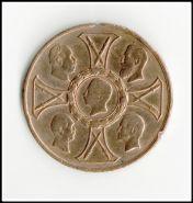 Медаль, Пруссия Medaille 1895 zum 25 jährigen Gedächtnis der Siege 1870 1871 aus erobertem Gesch