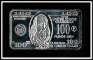 Слиток 1000 долларов посеребрение