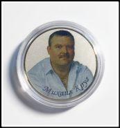 Михаил Круг. 25 рублей 2013 года цветная, вариант 1, в капсуле