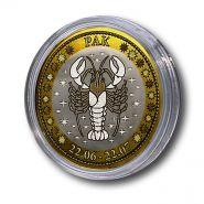 РАК, монета 10 рублей, с гравировкой, знаки ЗОДИАКА