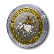 СТРЕЛЕЦ, монета 10 рублей, с гравировкой, знаки ЗОДИАКА