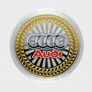 10 рублей Audi, серия автомобили мира, цветная,гравировка
