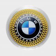 10 рублей BMW, серия автомобили мира, цветная,гравировка