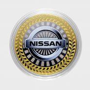 10 рублей Nissan, серия автомобили мира, цветная,гравировка