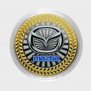 10 рублей Mazda , серия автомобили мира, цветная,гравировка