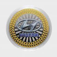 10 рублей Hyundai, серия автомобили мира, цветная,гравировка