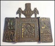 Складень Богоматерь Смоленская, отличный, 19 век