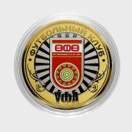 ФК УФА, 10 рублей, цветная эмаль + гравировка